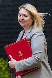 London, June 20th 2017. Secretary of State for Culture, Media and Sport Karen Bradley attends the weekly cabinet meeting at 10 Downing Street in London.