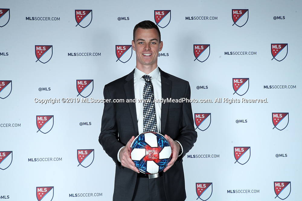 CHICAGO, IL - JANUARY 11: Jimmy Hague was taken with the 30th overall pick by FC Cincinnati. The MLS SuperDraft 2019 presented by adidas was held on January 11, 2019 at McCormick Place in Chicago, IL.