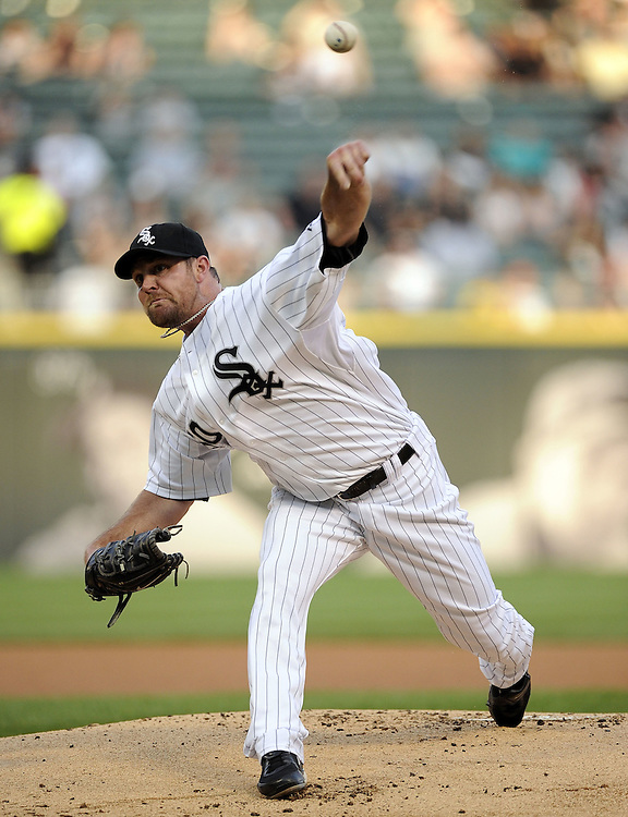 CHICAGO - JUNE 06:  John Danks #50 of the Chicago White Sox pitches against the Seattle Mariners on June 6, 2011 at U.S. Cellular Field in Chicago, Illinois.  The White Sox defeated the Mariners 3-1.  (Photo by Ron Vesely)  Subject:  John Danks