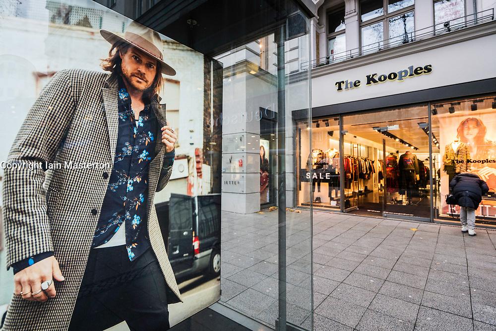 The Kooples store on famous Kurfurstendamm shopping street in Berlin, Germany.