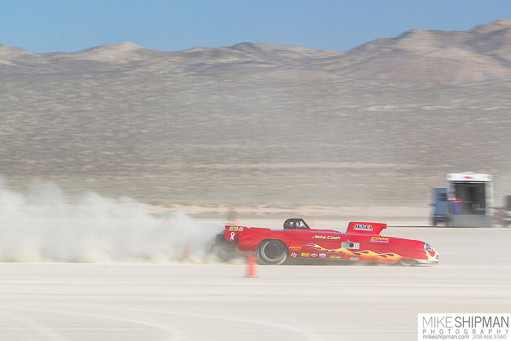 Jesel & Cook, 598, eng C, body GMS, driver Mike Cook, 174.918 mph, record 214.816