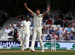 September 10, 2018 - London, Greater London, United Kingdom - England's James Anderson  gets LBW on Shikhar Dhawan of India.during International Specsavers Test Series 5th Test match Day Four  between England and India at Kia Oval  Ground, London, England on 10 Sept 2018. (Credit Image: © Action Foto Sport/NurPhoto/ZUMA Press)