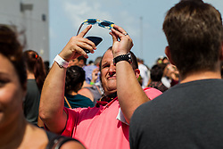 Robert Suarez watches the solar eclipse at the Phillip and Patricia Frost Museum of Science with the collaboration of Southern Cross Astronomical Society on Monday, Aug. 21, 2017. Photo by Sebastian Ballestas/Miami Herald/TNS/ABACAPRESS.COM