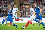 (9) Harry Kane, Slovakia (2) Peter PEKARIK during the FIFA World Cup Qualifier match between England and Slovakia at Wembley Stadium, London, England on 4 September 2017. Photo by Sebastian Frej.