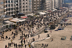 View of the promenade from the Ostend Queen restaurant on top of the Ostend Casino, in Ostend, Belgium, Sunday, Sept. 14, 2008. (Photo © Jock Fistick)