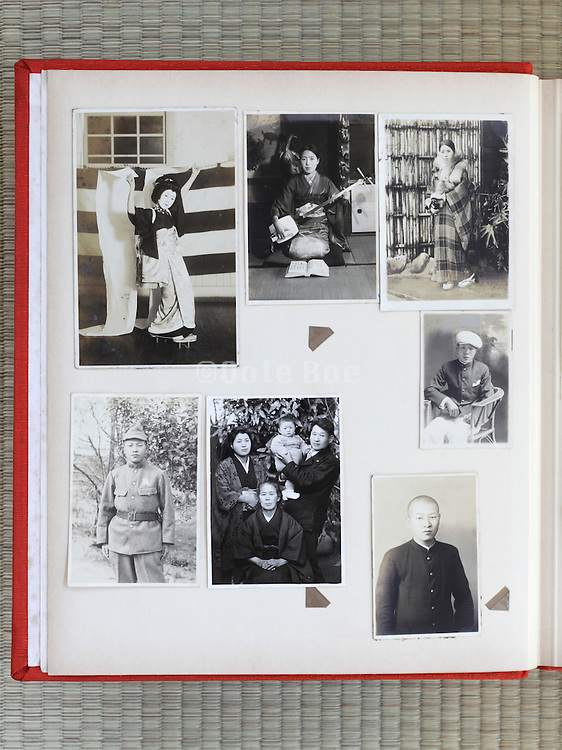 open page of a family photo album Japan Asia 1930s