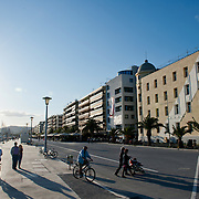 Volos town - seafront, the university of Thessaly on the right