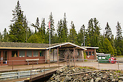 The Rock Harbor Visitor Center and Store, Isle Royale National Park, Lake Superior, Michigan, USA