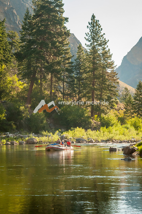 Scenic morning light in The Impassible Canyon on the Middle Fork of the Salmon River during six day rafting vacation, Idaho.