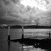 The Tagus River near downtown Lisbon.