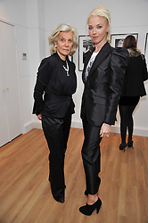 Left to right, MARINA CICOGNA and TAMARA BECKWITH at a private view of photographs by Marina Cicogna from her book Scritti e Scatti held at the Little Black Gallery, 3A Park Walk London SW10 on 16th October 2009.
