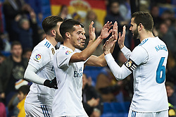 January 10, 2018 - Madrid, Madrid, Spain - Lucas Vazquez (midfielder; Real Madrid), Nacho Fernandez (defender; Real Madrid) during Copa del Rey match between Real Madrid and Numancia, Round 8 match, at Santiago Bernabeu on January 10, 2018 in Madrid (Credit Image: © Jack Abuin via ZUMA Wire)