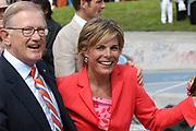 On Queensday, april 30th the Queen attends the celebrations of Queensday in Scheveningen near the Hague.<br /> This is her 25th jubilee.<br /> <br /> Op Koninginnedag, 30 april, is de Koningin  's Middags aanwezig metn en haar familie het koninginnedagfeest mee te vierten in Scheveningen.<br /> <br /> On The photo / On the Photo;<br /> <br /> Pieter van Vollenhoven  en Princes Laurentien / Pieter van Vollenhoven  en Prinses Laurentien