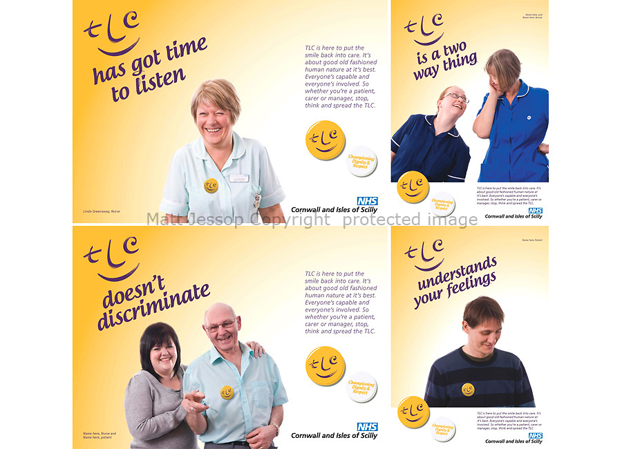 CLIENT: NHS CORNWALL AND ISLES OF SCILLY //     <br /> PROJECT: TLC DIGNITY AND RESPECT CAMPAIGN //   <br /> DESIGN: GENDALL DESIGN  www.gendall.co.uk // ART DIRECTION: JASON SALISBURY