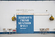Beshoffs fresh seafood market on 09th April 2017 in Howth, County Dublin, Republic of Ireland. Howth is an Irish village on the Howth Peninsula, east of central Dublin.
