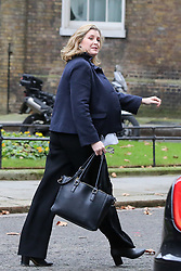 "© Licensed to London News Pictures. 18/12/2018. London, UK. Penny Mordaunt - Secretary of State for International Development and Equalities Minister departs from No 10 Downing Street after attending the weekly Cabinet Meeting that discussed the preparations for a ""No Deal"" Brexit. Photo credit: Dinendra Haria/LNP"