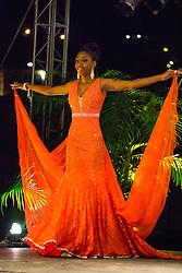 Evening Wear Segment.  Contestant #5 Caija Campbell.  St. John Festival Queen: 2015.  Winston W. Wells Ball Field.  St. John, Virgin Islands.  21 June 2015.  © Aisha-Zakiya Boyd