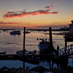 Early morning in Rye Harbor, New Hampshire.