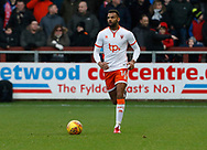 Blackpool's Curtis Tilt during the EFL Sky Bet League 1 match between Fleetwood Town and Blackpool at the Highbury Stadium, Fleetwood, England on 25 November 2017. Photo by Paul Thompson.