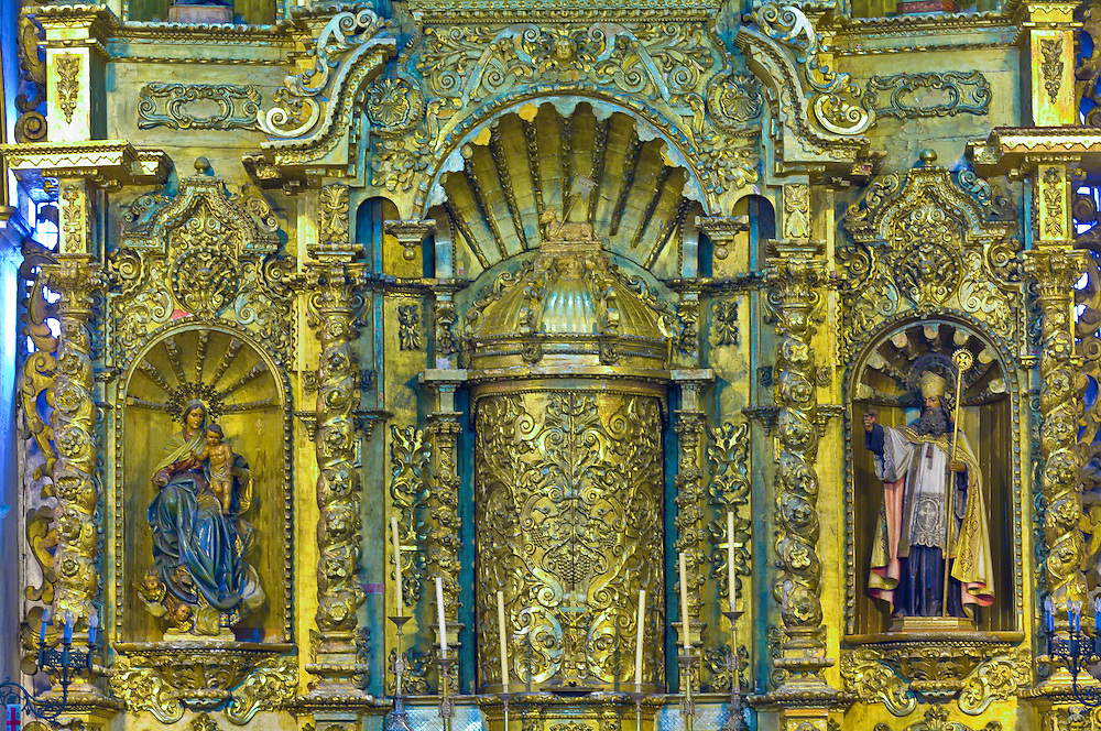 A gold leaf altar in the Church of San Jose, Casco Viejo (the Old City), San Felipe district, Panama City, Panama