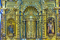 A gold leaf altar in the Church of San Jose, Casco Viejo (the Old City), San Felipe district, Panama City, Panama