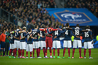 Illustration minute de silence - Equipe France - 26.03.2015 - France / Bresil - Match Amical<br />Photo : Andre Ferreira / Icon Sport