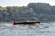 Lucerne, SWITZERLAND, 12th July 2018, Friday  View,  Classic Wooden Powered Launch, Riva, Styled,  Lake Lucerne',  Photographer, Karon PHILLIPS,
