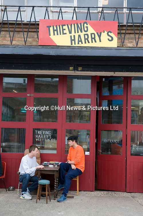 30 August 2014: Thieving Harry's Cafe  in Humber Street,Hull, East Yorkshire, UK.<br /> Picture: Sean Spencer/Hull News & Pictures Ltd<br /> 01482 772651/07976 433960<br /> www.hullnews.co.uk   sean@hullnews.co.uk