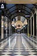 An empty Royal Arcade at 8:30 am while the state waits to see if the lockdown will be extended as it enters 6th day of the state wide COVID-19 snap lockdown that has been placed on the State of Victoria.  (Photo by Michael Currie/Speed Media)