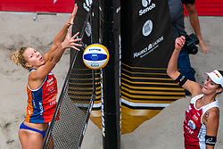 Pleun Ypma NED, Jorna Heidrich SUI in action during the third day of the beach volleyball event King of the Court at Jaarbeursplein on September 11, 2020 in Utrecht.