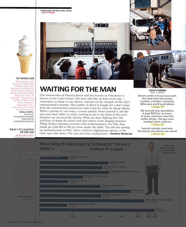 Vancouver's Cash Corner for Report on Business magazine