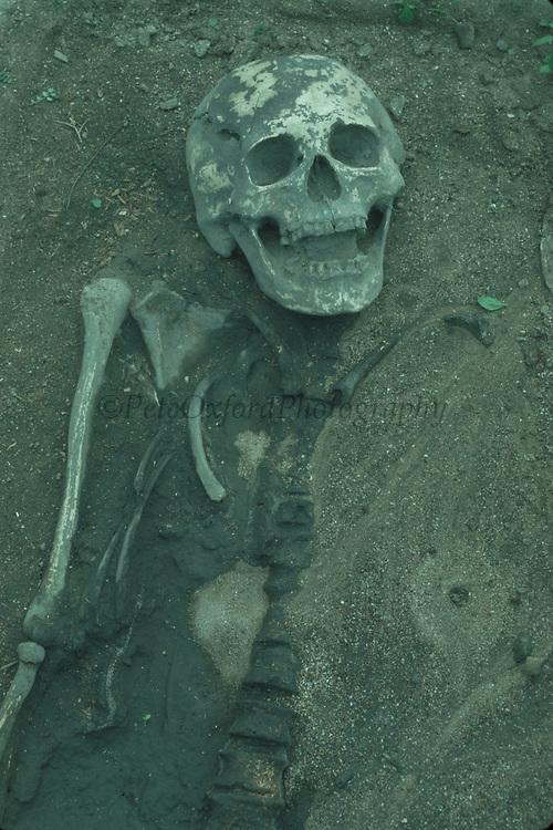 Valdivian Skeleton<br />4000 Year Old Culture,<br />Valdivia, Coast of ECUADOR.  South America