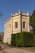 Georgian architecture of the Pavilion building built in 1773 at Old Wardour castle, Wiltshire, England, UK