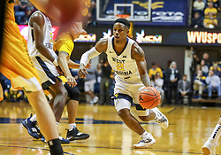 Nov 24, 2018; Morgantown, WV, USA; West Virginia Mountaineers guard Brandon Knapper (2) drives down the lane during the second half against the Valparaiso Crusaders at WVU Coliseum. Mandatory Credit: Ben Queen-USA TODAY Sports