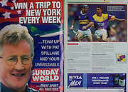 All Ireland Senior Hurling Championship Final,.09.09.2001, 9th September 2001,.Minor Cork 2-10, Galway 1-8,.Senior Tipperary 2-18, Galway 2-15,  .09092001AISHCF,.Sunday World, Nivea for men,