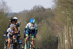 Gracie Elvin leads up to the GPM on the first of five local laps around Tielt Winge - 2016 Omloop van het Hageland - Tielt-Winge, a 129km road race starting and finishing in Tielt-Winge, on February 28, 2016 in Vlaams-Brabant, Belgium.