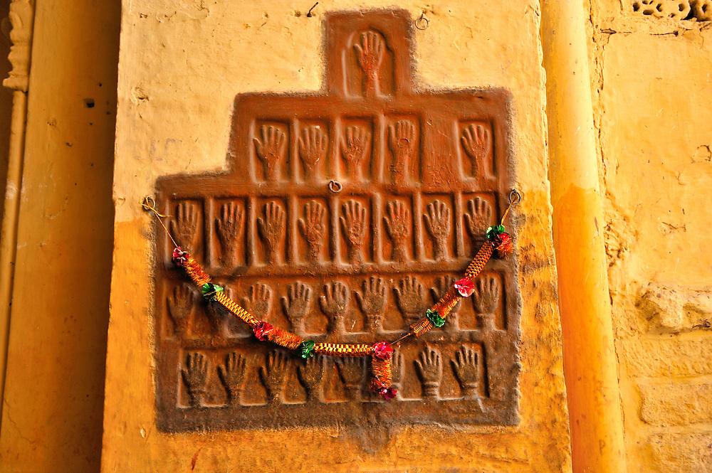 Sati suicide hand prints Mehrangarh Fort