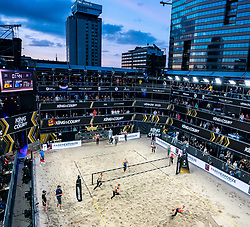 Centercourt Sanne Keizer, Madelein Meppelink, Emi van Driel, Mexime van Driel during the last day of the beach volleyball event King of the Court at Jaarbeursplein on September 12, 2020 in Utrecht.