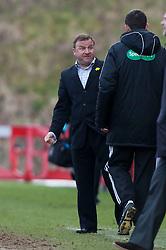 Hamilton manager Billy Reid..Hamilton 1 v 2 Falkirk, Scottish Cup quarter-final, Saturday, 2nd March 2013..©Michael Schofield.