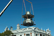 Installation of a new belvedere on the Guildford Hotel, February 27, 2016 . <br /> <br /> Part of the refurbishment of the historic Guildford Hotel, which was gutted by fire on September 1, 2008 . . . 2,735 days ago! It's been a long time coming.