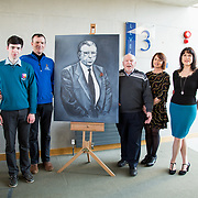 24.03.2017            <br /> Limerick Civic Trust, Marjorie Daly commissioned Jim Kemmy Portrait unveiling by Jan O'Sullivan TD at the Kemmy Business School, University of Limerick. <br /> <br /> Pictured at the event were, James, Mike, Joe and Karen Kemmy with Sarah Hartnett, UL Foundation. Picture: Alan Place