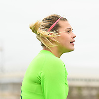 4th year goalkeeper Ashton Lowry (1) of the Regina Cougars in action during the Women's Soccer Home Game on October 21 at U of R Field. Credit Matt Johnson/Arthur Images