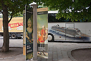 Royal faces from an old empire with a three year-old Maria Theresia and a portrait of some of her 16 children (incl Marie Antoinette) with a modern day Austria outside Schloss Schonbrunn (palace) on 27th June 2016, in Vienna, Austria. The cruise line image is for the Viking Line whose tourists are inside the nearby royal apartments. Maria Theresa Walburga Amalia Christina (1717–1780) was the only female ruler of the Habsburg dominions and the last of the House of Habsburg. She was the sovereign of Austria, Hungary, Croatia, Bohemia, Transylvania, Mantua, Milan, Lodomeria and Galicia, the Austrian Netherlands and Parma. (Photo by Richard Baker / In Pictures via Getty Images)