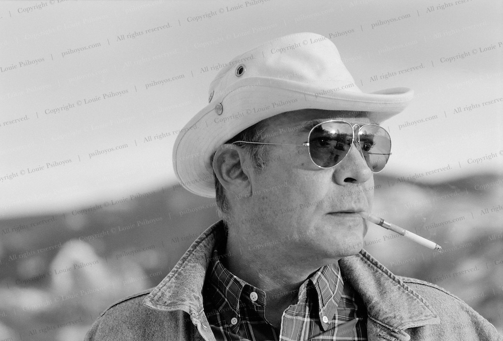 Hunter S. Thompson, author of Fear and Loathing in Las Photographed at his home in Woody Creek, Colorado.