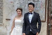 bride and groom at the Old city of Dali, Yunnan, China