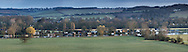 Panorama from hills overlooking the River Thames at Bourne and and the Chiltern Hills, Buckinghamshire, Uk