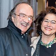 NLD/Amsterdam/20171002 - remiere Liesbeth List de Musical, Wim Schuurman en partner Sonja