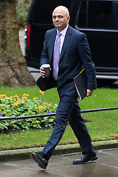Downing Street, London, February 7th 2017. Communities and Local Government Secretary Sajid Javid arrives in Downing Street for the weekly UK cabinet meeting.