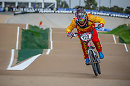 #122 (ZHANG Yaru) CHN at Round 1 of the 2020 UCI BMX Supercross World Cup in Shepparton, Australia