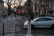 """April, 8th 2020 - Paris, Ile-de-France, France: Paris in confinement in the hope of protecting themselves from the spread of the Coronavirus, during thefirst month of near total lockdown imposed in France. A week after President of France, Emmanuel Macron, said the citizens must stay at home for at least 15 days, that has been extended. He said """"We are at war, a public health war, certainly but we are at war, against an invisible and elusive enemy"""". All journeys outside the home unless justified for essential professional or health reasons are outlawed. Anyone flouting the new regulations is fined. Nigel Dickinson"""